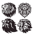 lion head logo set collection premium vector image vector image