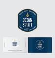 logo yacht club ocean spirit emblem vector image vector image