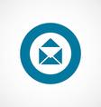 mail bold blue border circle icon vector image vector image