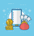 online payment concept vector image vector image