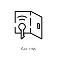 outline access icon isolated black simple line vector image vector image