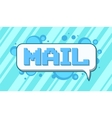 Pixel art mail on blue background vector image vector image
