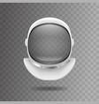 realistic 3d detailed white cosmonaut helmet vector image vector image