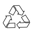 recycle outline icon line art style vector image vector image
