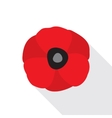 Red Poppy Flat Icon vector image vector image