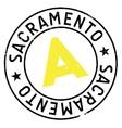 Sacramento stamp rubber grunge vector image vector image