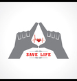 save life concept vector image