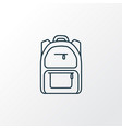 school backpack icon line symbol premium quality vector image