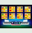 scoreboard national flag vector image
