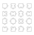 set of puzzle parts vector image