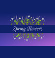 spring card template with miscari and wood sorrel vector image vector image