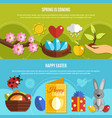 spring easter banners set vector image vector image