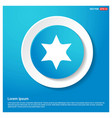 star icon abstract blue web sticker button vector image