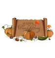 thanksgiving day design vector image vector image