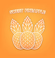 three sweet pineapple background vector image vector image