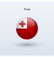 Tonga round flag vector image vector image