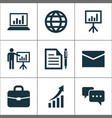 trade icons set collection of earth contract vector image vector image