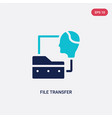 two color file transfer icon from artificial vector image vector image