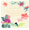 vintage birds and purple pink colorful spring vector image vector image