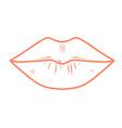 woman full lips outline - kiss imprint vector image vector image