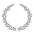 wreath with leaves vector image