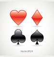 symbols of playing poker card sign vector image