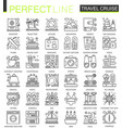 travel cruise outline concept symbols perfect vector image