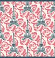 vintage eiffel tower seamless pattern vector image