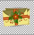 xmas postcard vintage christmas pattern greeting vector image
