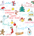 Symbols of New Year and Christmas vector image