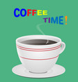 a cup of fresh coffee vector image vector image