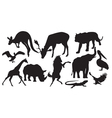 animals silhouette vector image vector image