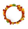 Autumn Frame concept circular vector image vector image