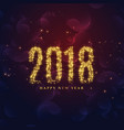 beautiful sparkles 2018 new year background vector image vector image