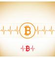 bitcoin heart cardiogram vector image