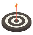 black and white archery target icon isometric vector image