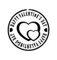 Black Valentine stamp vector image vector image