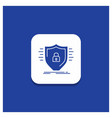 blue round button for defence firewall protection vector image