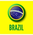 brazil background for your presentations vector image vector image