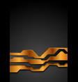 bronze and black abstract technology background vector image vector image