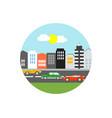 cityscape icon sign symbol vector image