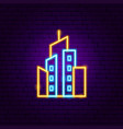 cityscape neon sign vector image vector image