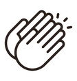 clapping hands icon vector image vector image