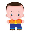 cute kid in flat style cartoon isolated object vector image vector image