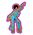 disco woman dancing eighties style 80s afro vector image