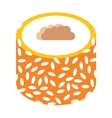 Eastern sweets traditional arabic food isolated on vector image