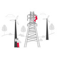 electrician workers with tools and equipment vector image vector image