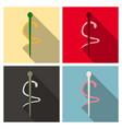 emblem for drugstore or medicine the snake vector image vector image