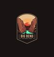 emblem patch logo big bend national park