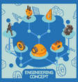 engineering color isometric concept vector image